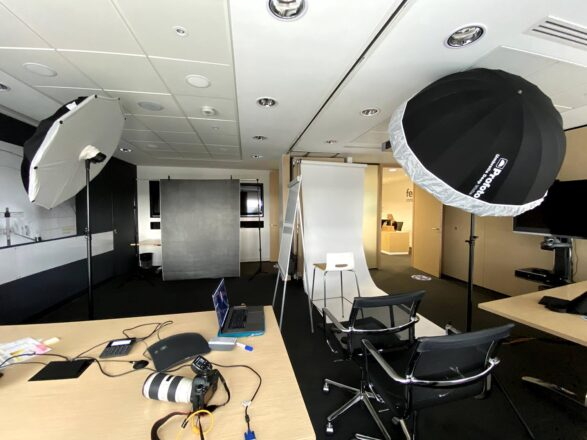 Behind the scenes corporate portraits